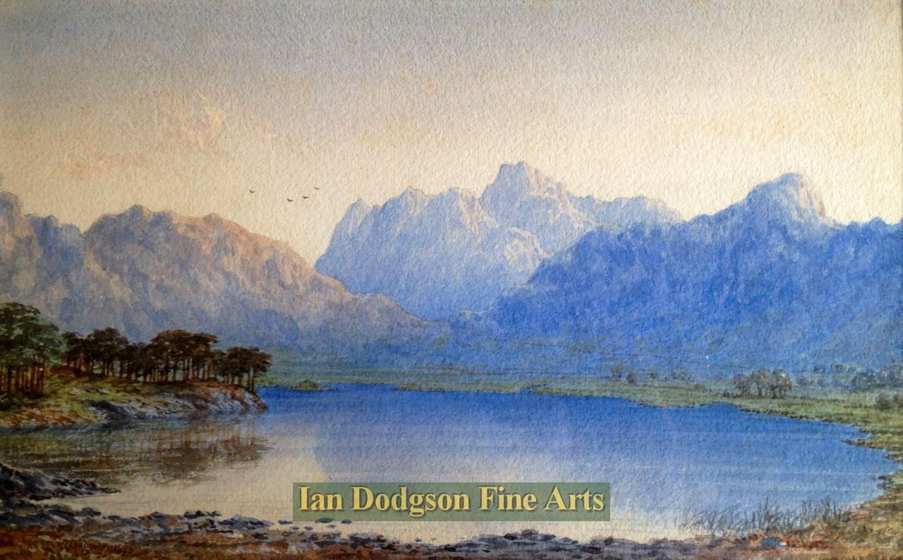 Blea Tarn Towards The Langdale  Pikes by William Taylor Longmire