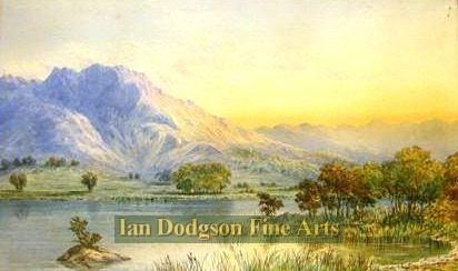 Sunset Rydal water by William Taylor Longmire