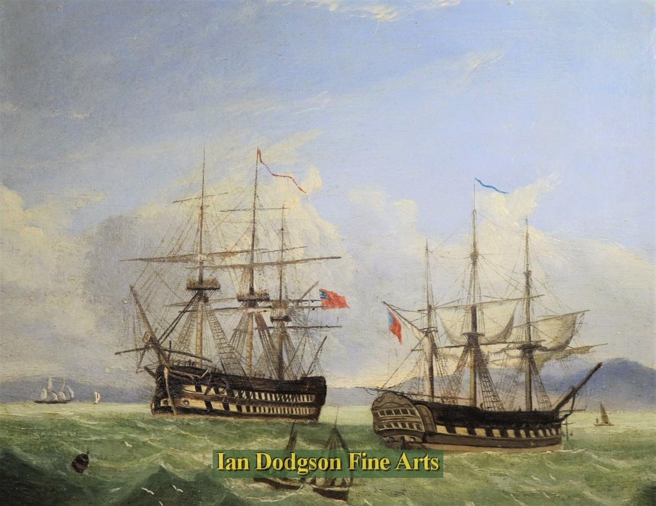 Early English School - Frigates at sea