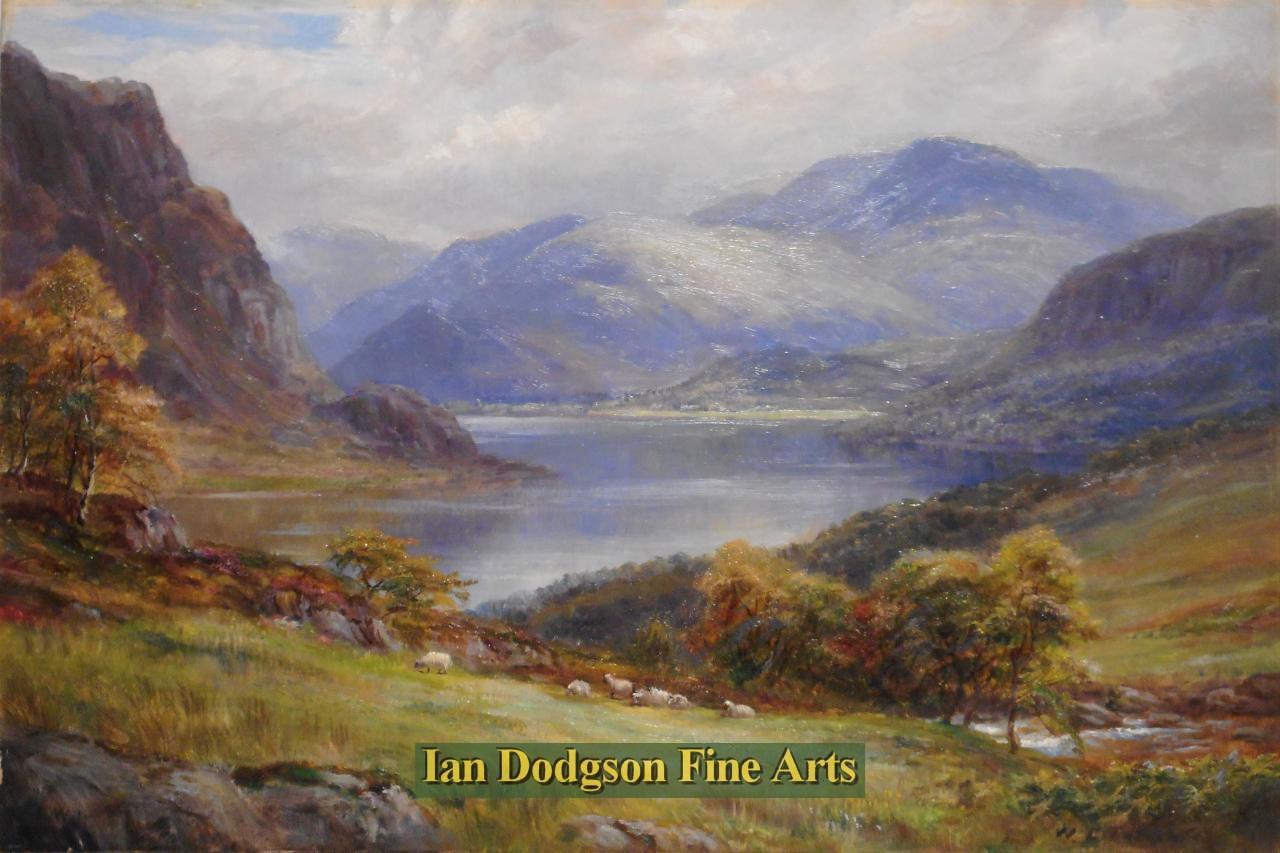 William Lakin Turner - In the Lakes, Ennerdale Water